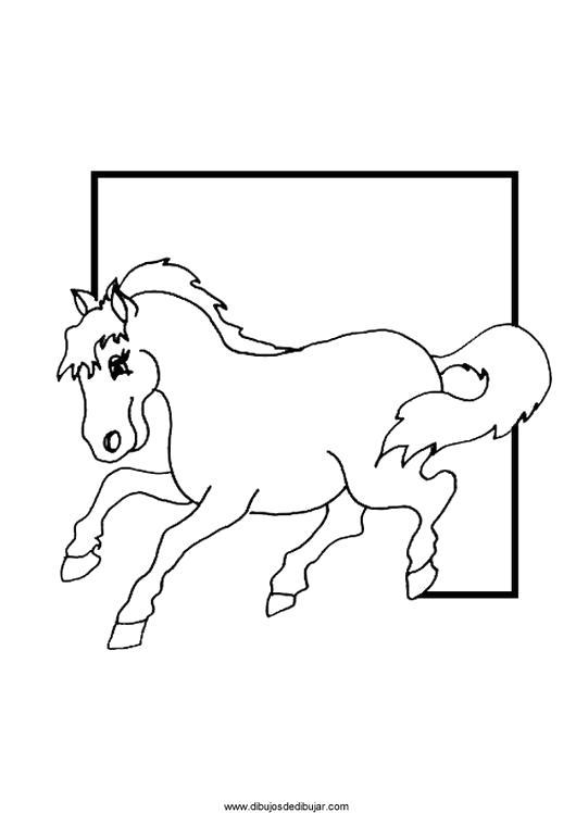 Раскраска  лошадка  для детей, лошадка бежит. Скачать Лошадка.  Распечатать Лошадка