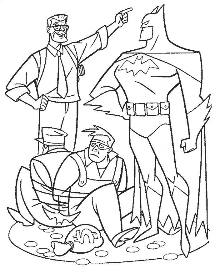 Раскраска Бэтмэн герой. Скачать .  Распечатать