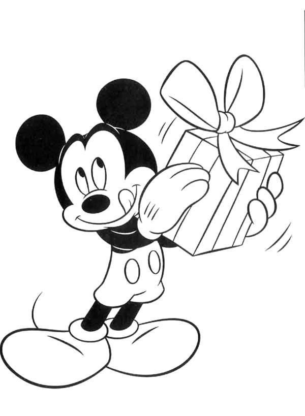 Раскраска Долгожданный подарок. Скачать .  Распечатать