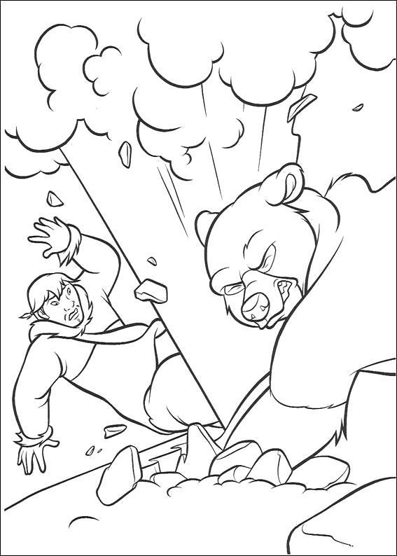 Раскраска медведица и кентай. Скачать Братец медвежонок.  Распечатать Братец медвежонок