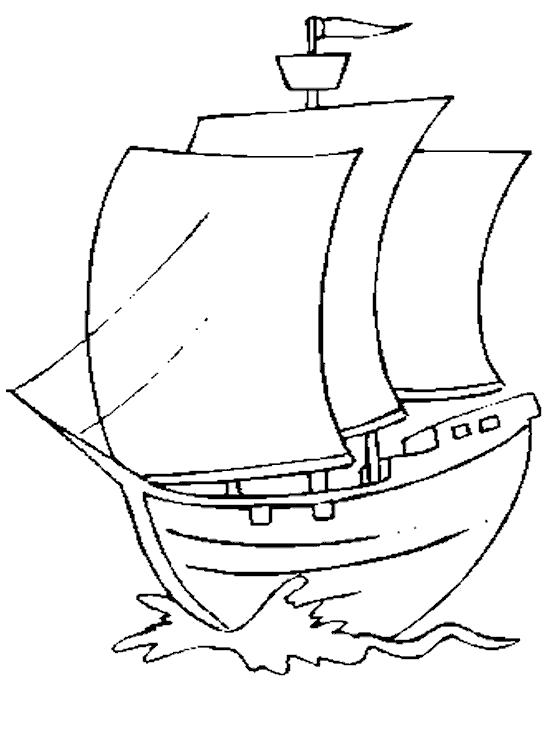 Раскраска Парусник. Скачать корабль.  Распечатать корабль