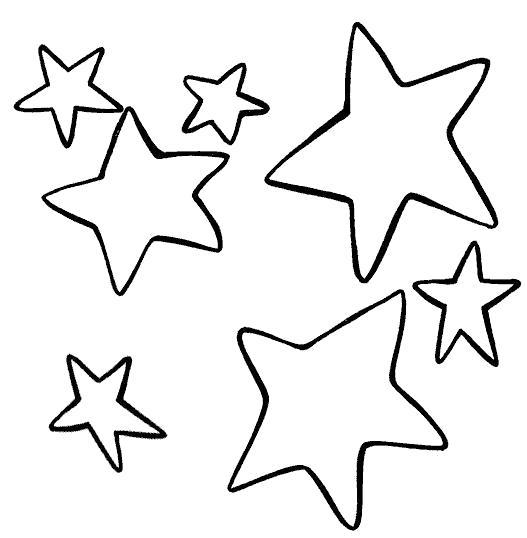 Раскраска много звезд. Скачать звезда.  Распечатать геометрические фигуры
