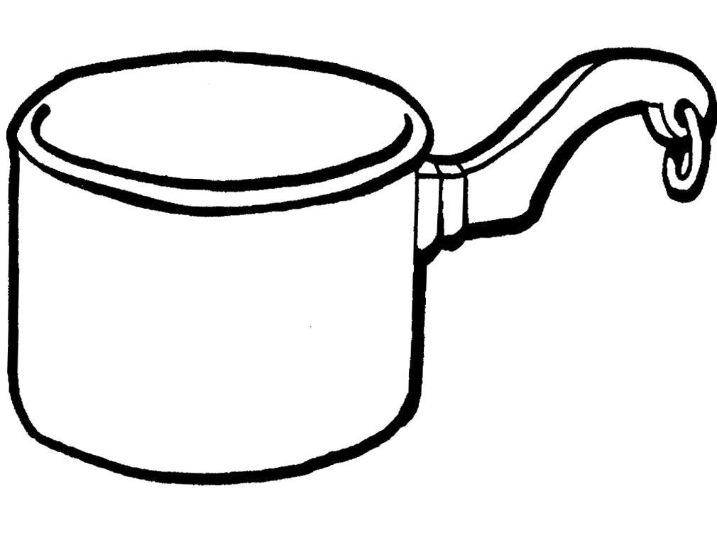 Раскраска Большой ковш для воды. Детские  с посудой.. Скачать .  Распечатать