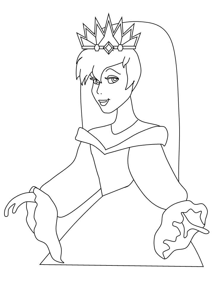 Раскраска Принцесса-невеста. Скачать принцесса.  Распечатать принцесса