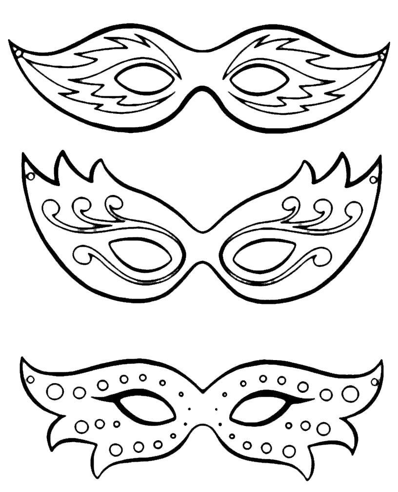 Раскраска маски злаза. Скачать маски.  Распечатать маски