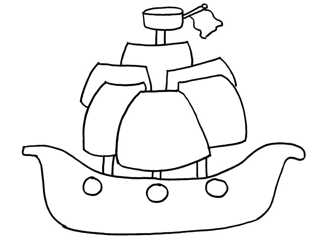 Раскраска Кораблик. Скачать корабли.  Распечатать корабли