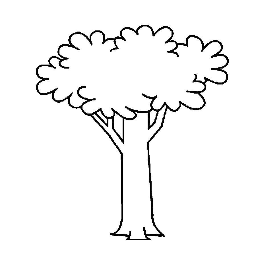 Раскраска  Деревья для вырезания из бумаги вырезаем дерево с кроной по шаблону. Скачать дерево.  Распечатать растения