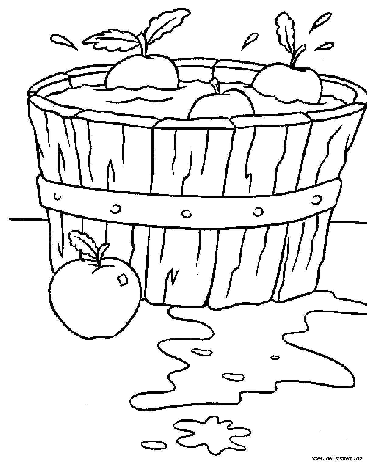 Раскраска Распечатать бесплатные  для детей: Для самых маленьких: Овощи, фрукты. Скачать Овощи.  Распечатать Овощи