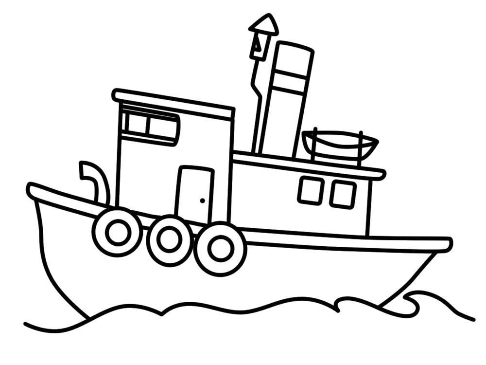 Раскраска Детские  с кораблями. Скачать .  Распечатать