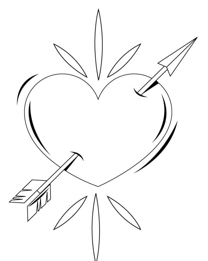 Раскраска  сердце . Скачать сердце.  Распечатать сердце