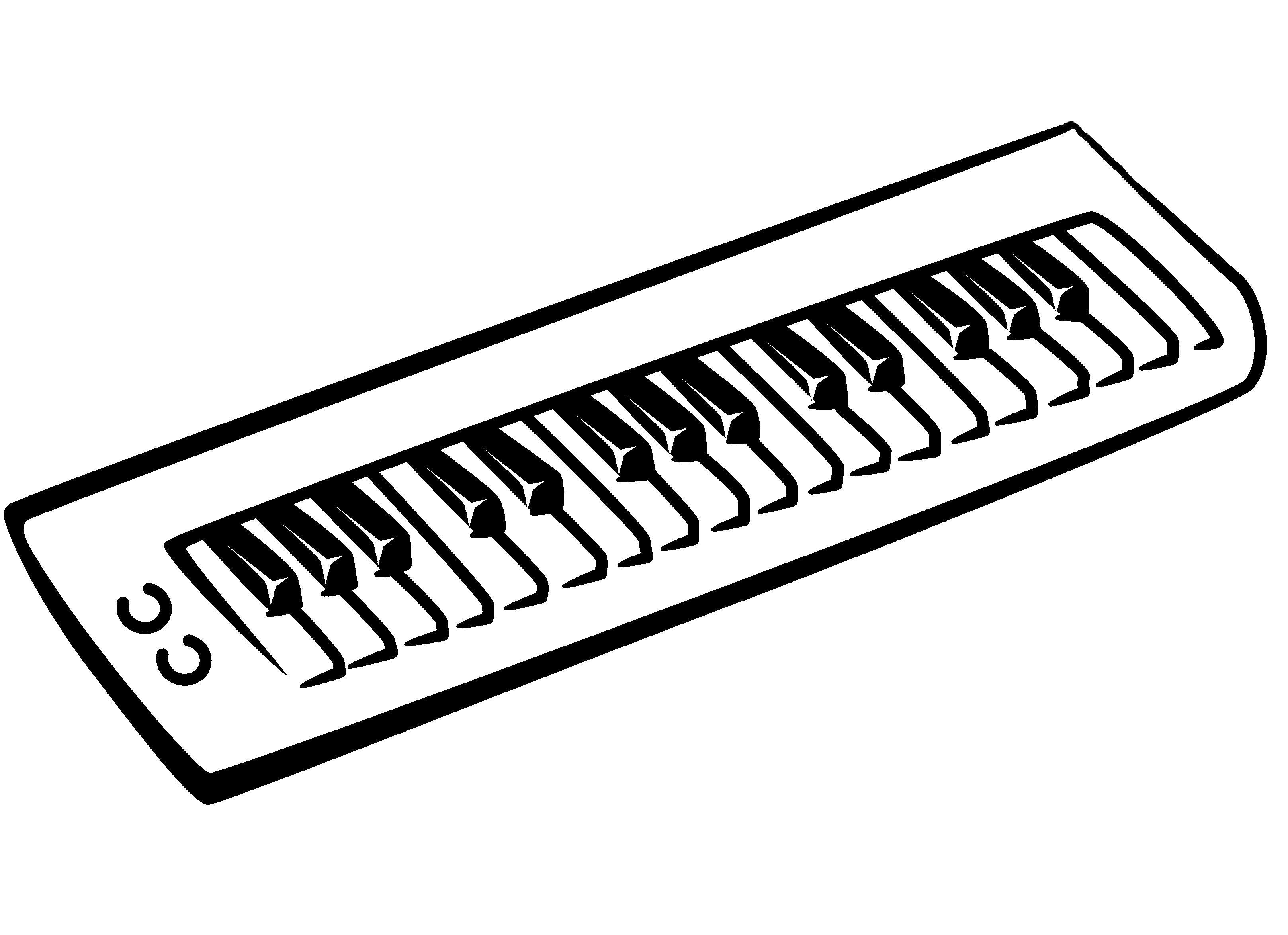 Раскраска пианино, музыкальные инструменты. Скачать .  Распечатать