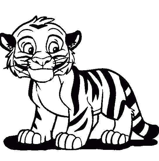 Раскраска  тигра распечатать. Скачать Тигр.  Распечатать Дикие животные