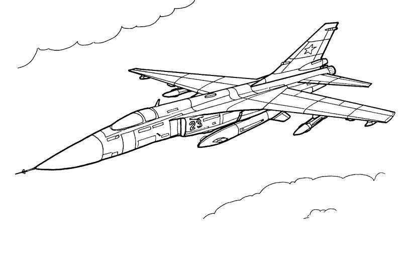 Раскраска самолет летит, открытка с 23 февралем. Скачать 23 февраля.  Распечатать 23 февраля
