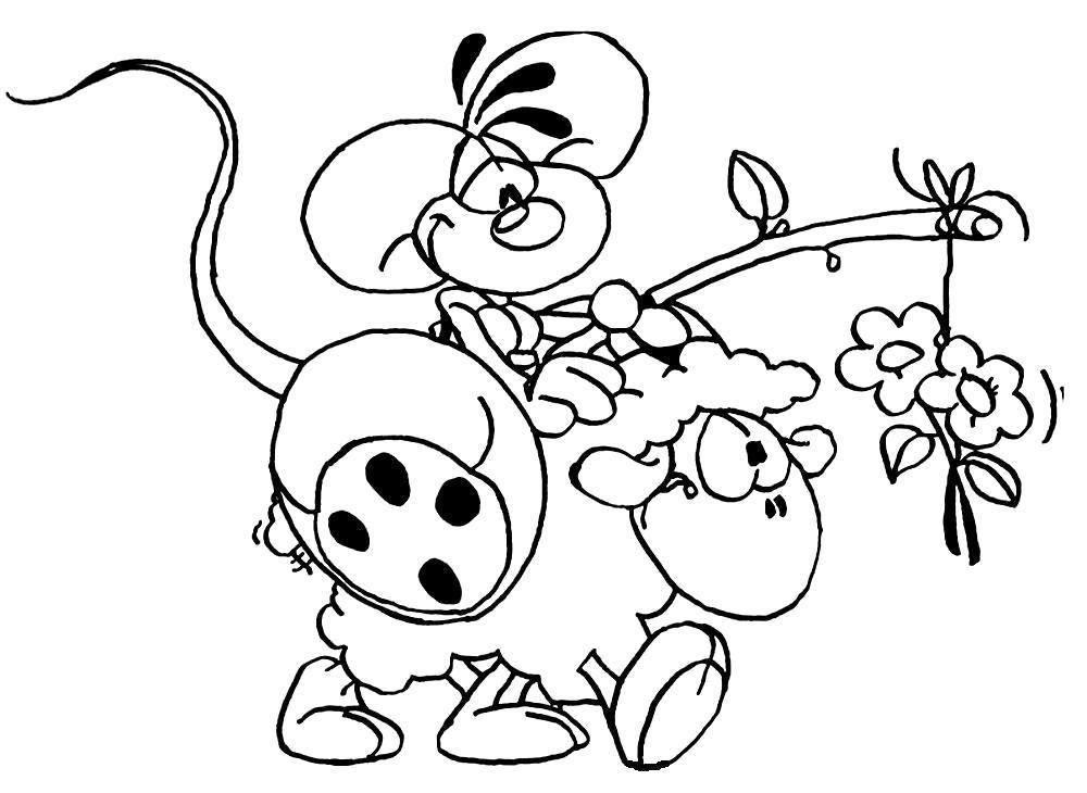 Раскраска  картинки с Дидлами для детей. Скачать .  Распечатать