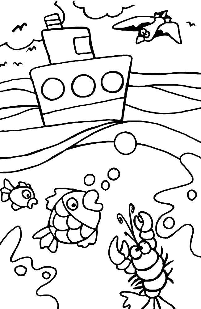Раскраска Морской рисунок. Скачать .  Распечатать