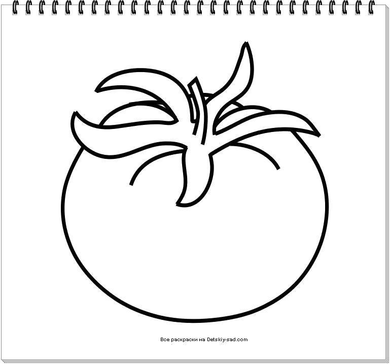Раскраска  томат. Скачать томат.  Распечатать томат