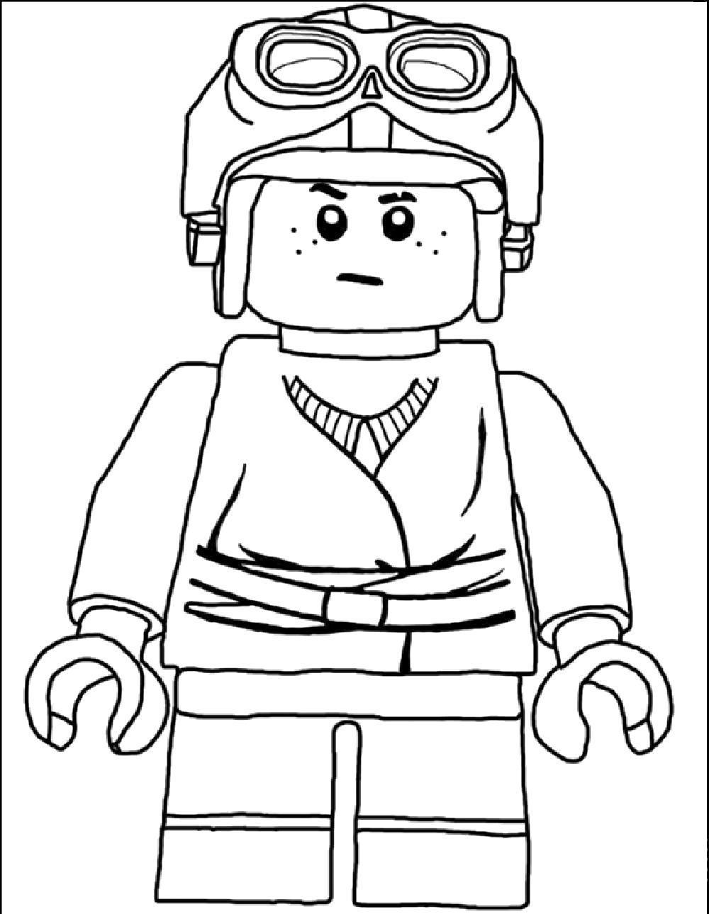 Раскраска Лего человечек. Скачать .  Распечатать