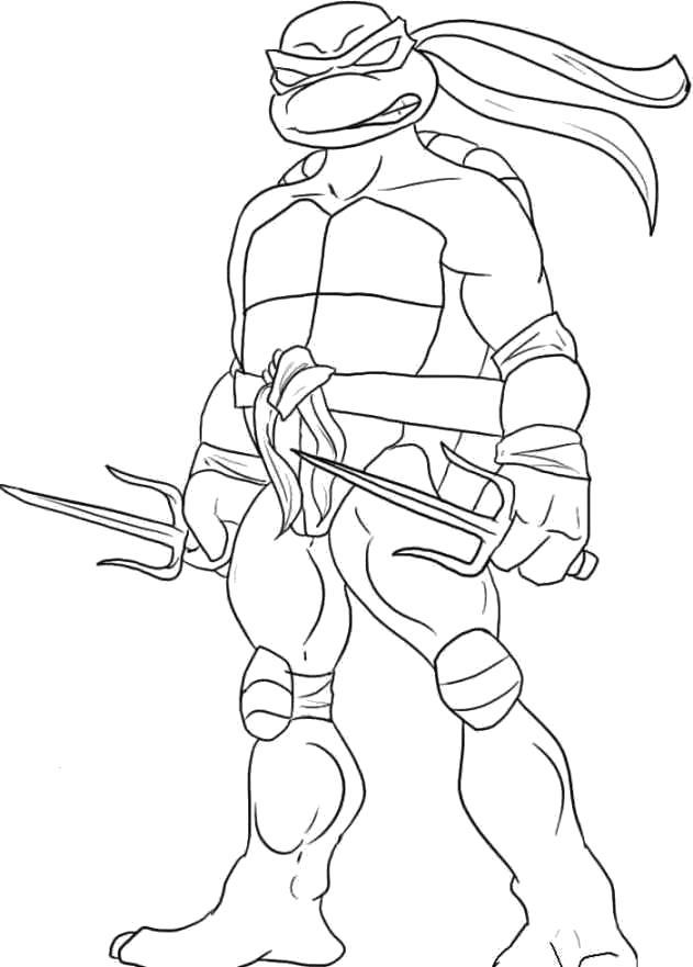 Название: Раскраска Грозный Рафаэль. Категория: Черепашки ниндзя. Теги: Рафаэль.