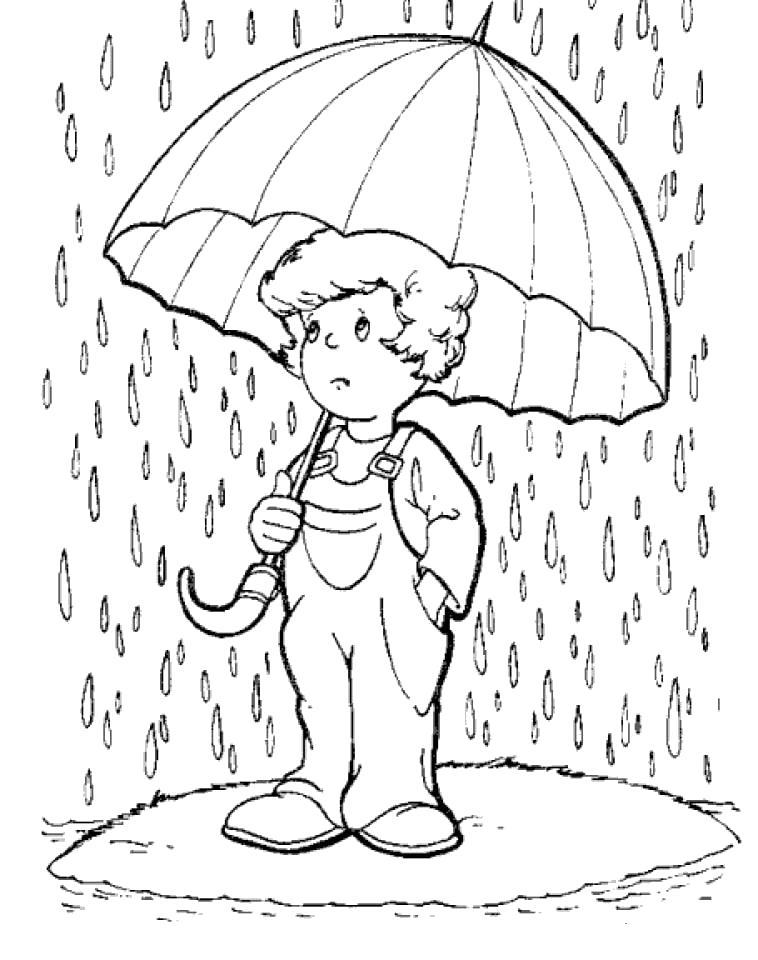 Раскраска Дождь навивает грусть. Скачать .  Распечатать