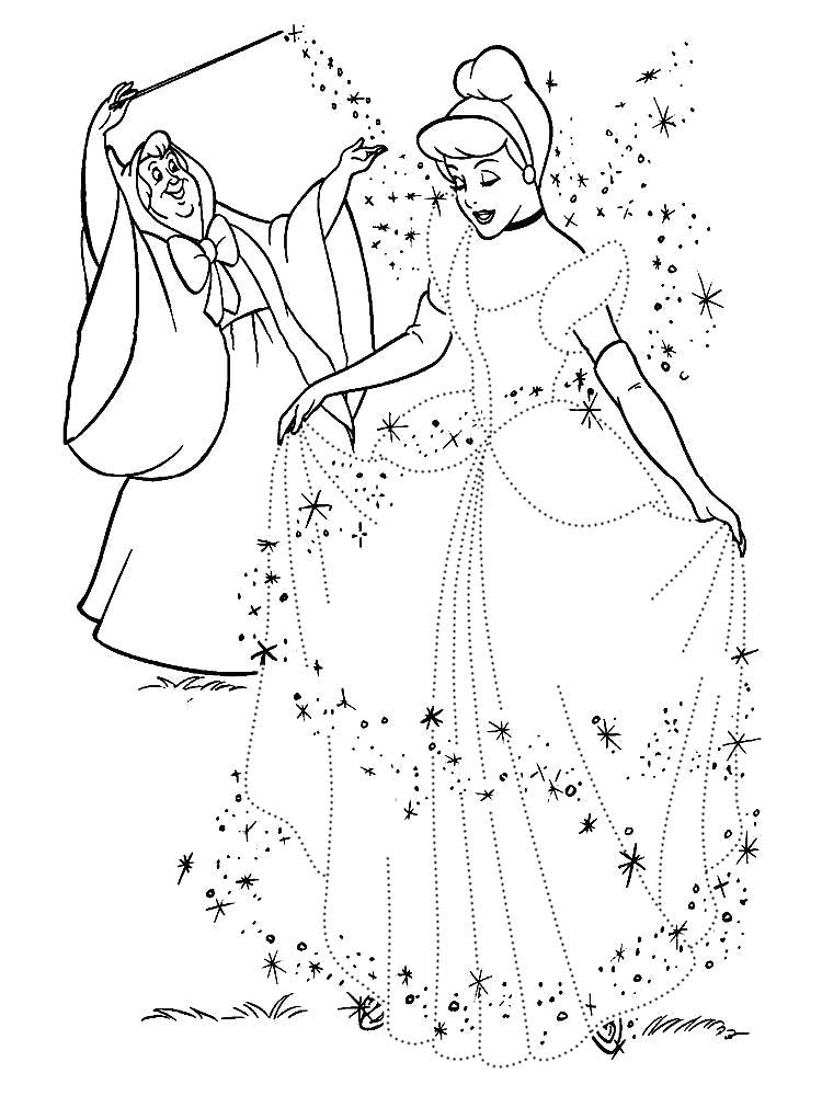 Раскраска Принцесса по точкам. Скачать по точкам.  Распечатать по точкам