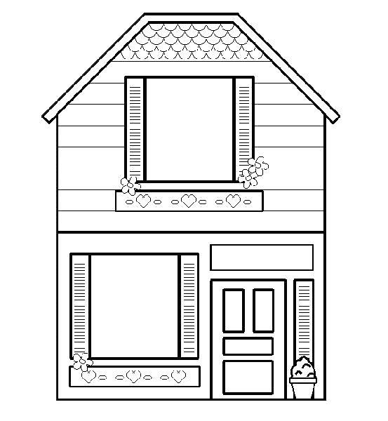 Раскраска домик для детей, домик. Скачать Дом.  Распечатать Дом