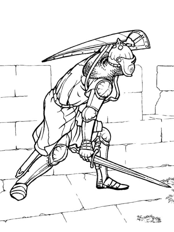 Раскраска Рыцарь. Скачать Рыцарь.  Распечатать Рыцарь