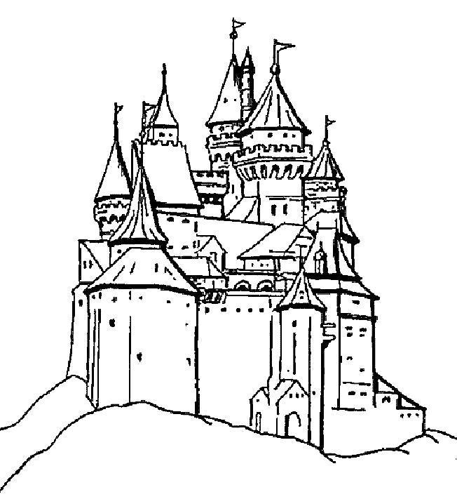 Раскраска Средневековые замки. Скачать .  Распечатать