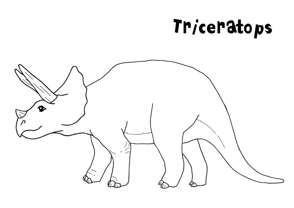 Раскраска динозавры , трицераптор. Скачать динозавр.  Распечатать динозавр