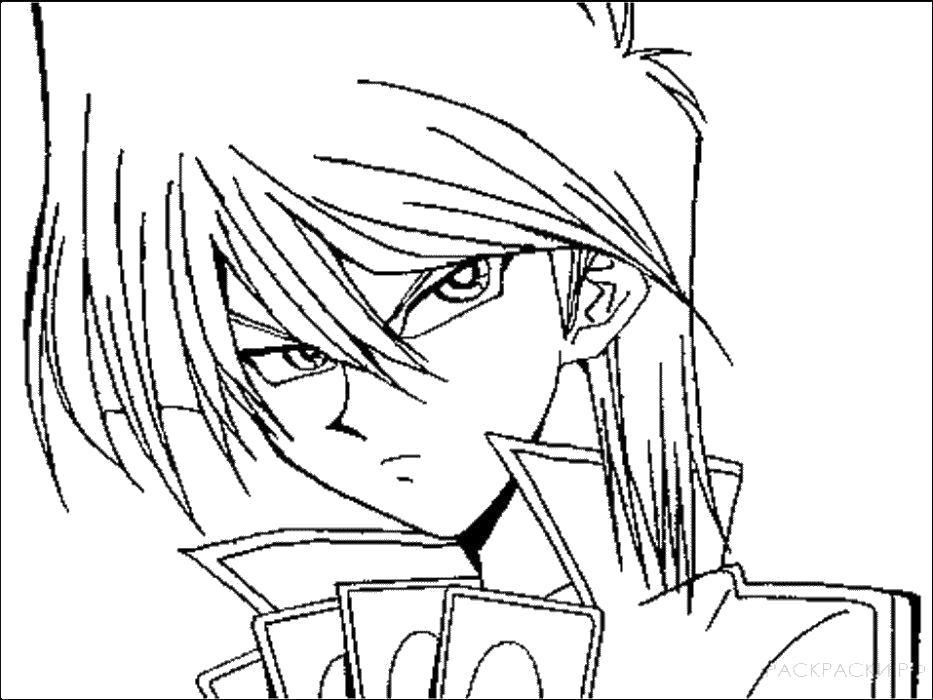 Раскраска  Аниме -Злой парень. Скачать .  Распечатать