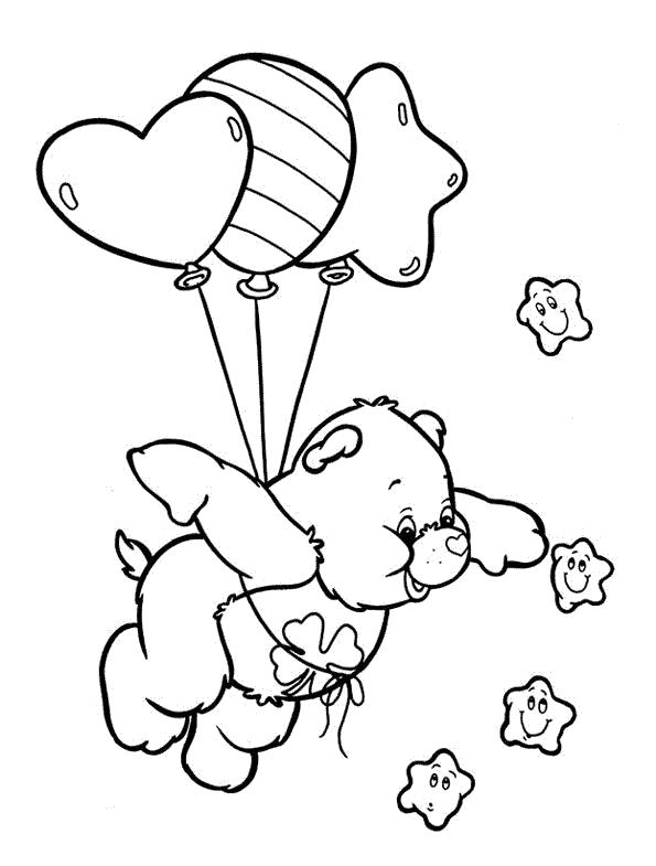 Раскраска Летающий мишка Гамми. Скачать Мишка.  Распечатать Мишка