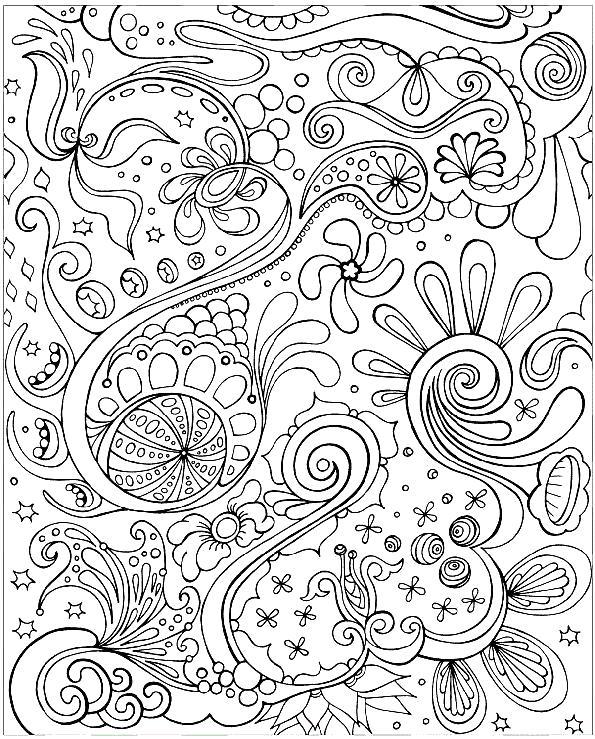 Раскраска Очень сложные и красивые . Скачать узоры.  Распечатать антистресс