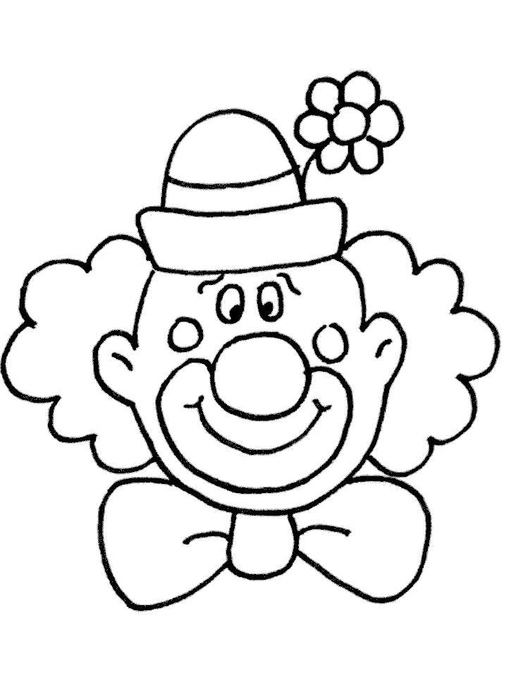 Раскраска клоун, лицо клоуна. Скачать клоун.  Распечатать клоун