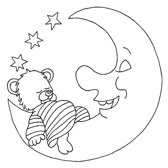 Раскраска Спящий медвежонок. Скачать животных.  Распечатать животных