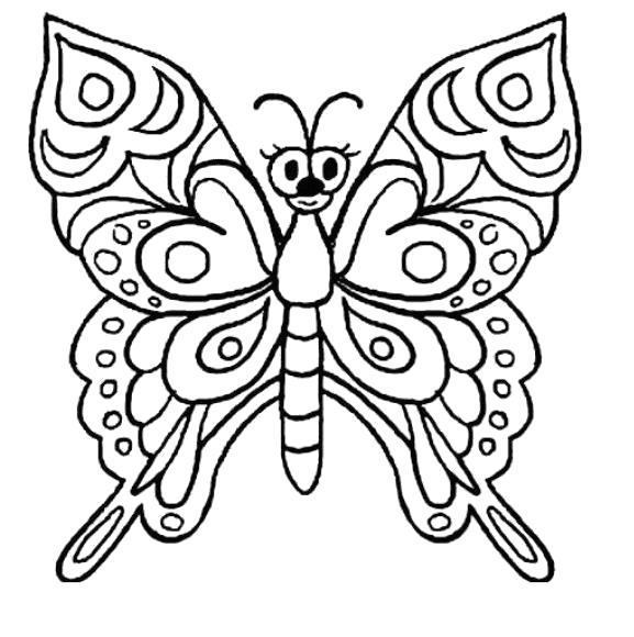 Раскраска Милашка бабочка. Скачать .  Распечатать