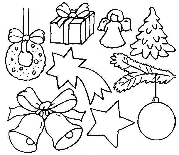 """Раскраска  """"Рождественский узор"""". Скачать .  Распечатать"""