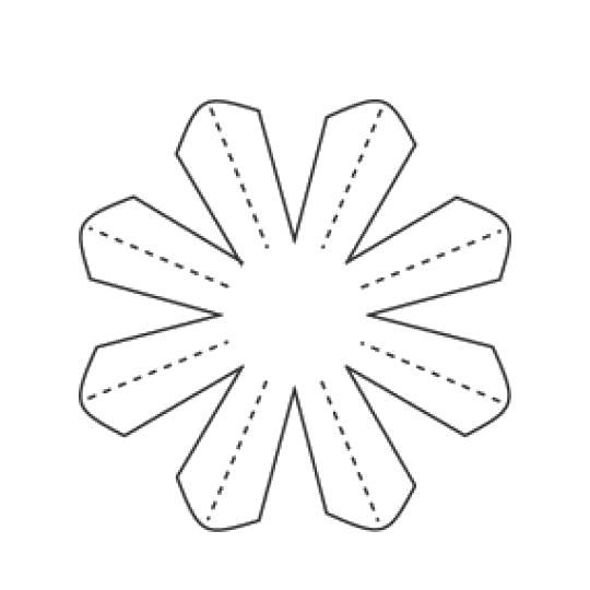 Раскраска шаблон цветочка роипашки. Скачать цветы.  Распечатать цветы