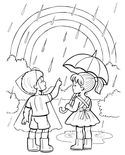 Раскраска  радуга после дождя. Скачать дуга.  Распечатать геометрические фигуры