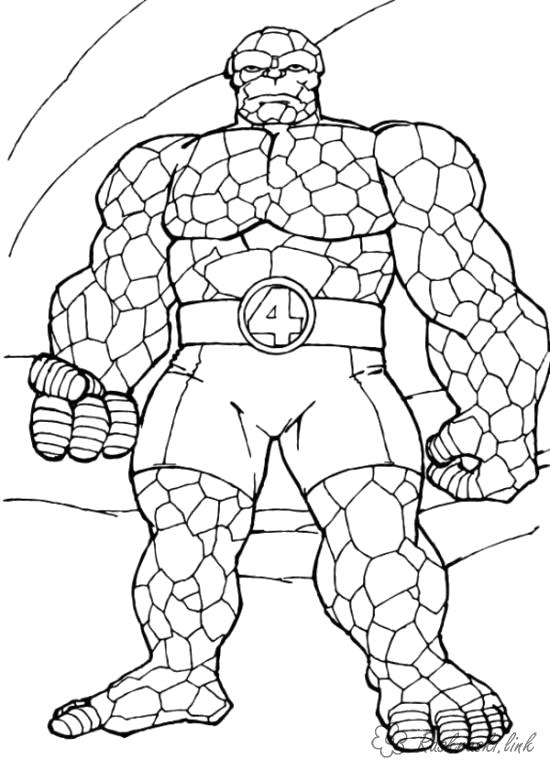 Раскраска  супергерой  для детей, супергерой существо. Скачать .  Распечатать