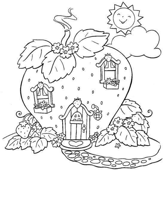 Раскраска Дом-ягода. Скачать .  Распечатать