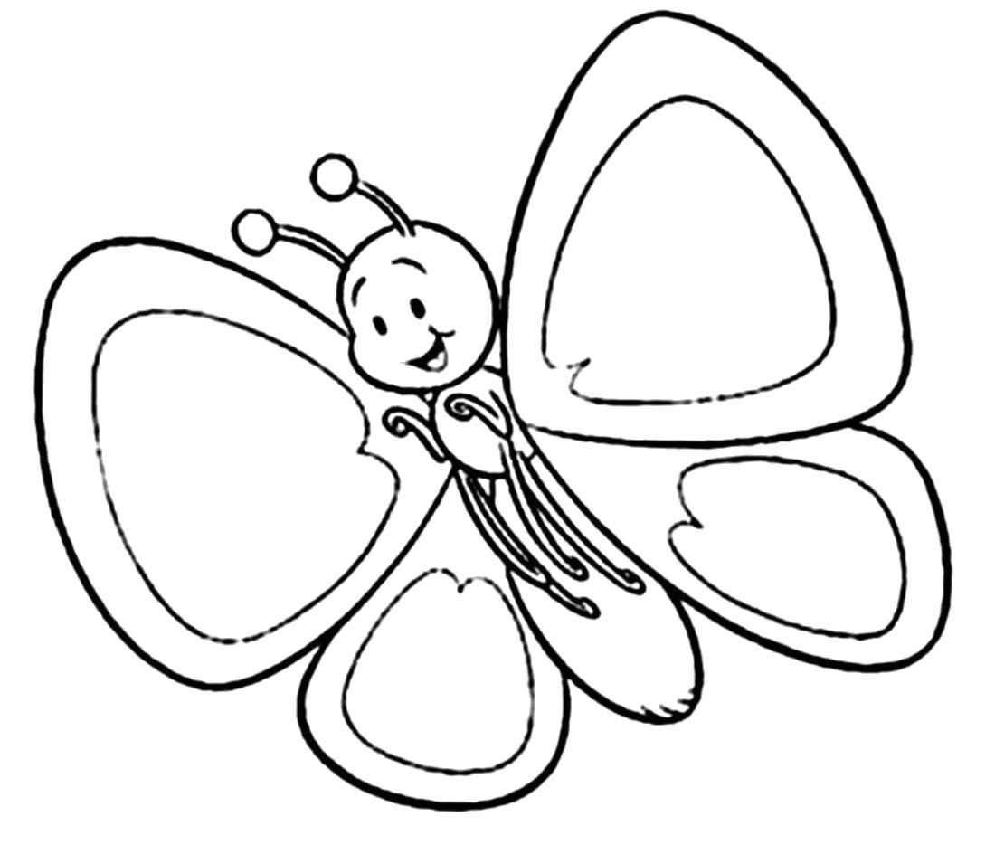 Раскраска бабочки , бабочка летит. Скачать бабочки.  Распечатать бабочки