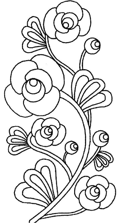 Раскраска Цветочный узор. Скачать Цветы.  Распечатать Цветы