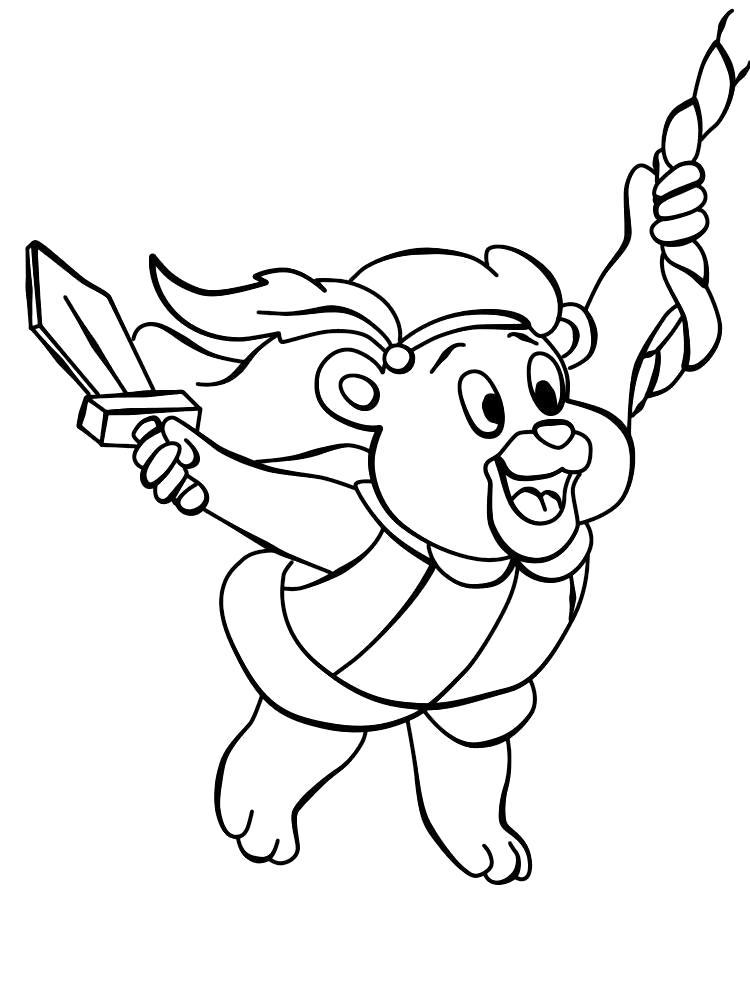 Раскраска Мишки Гамми увлекательные  для детей. Скачать Мишки Гамми.  Распечатать Мишки Гамми