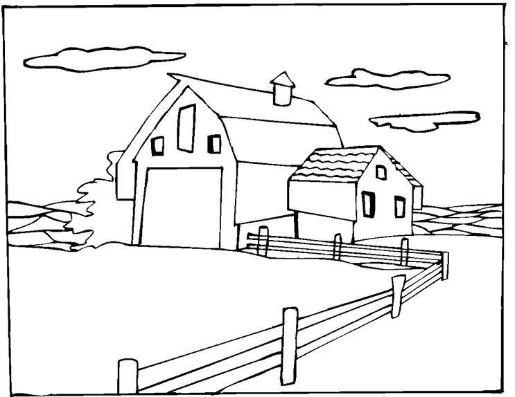 Раскраска Ферма. Скачать .  Распечатать