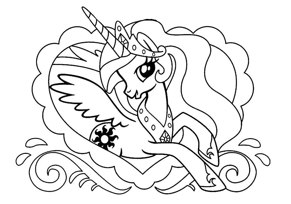 Раскраска май литл пони . Скачать Пони.  Распечатать Пони