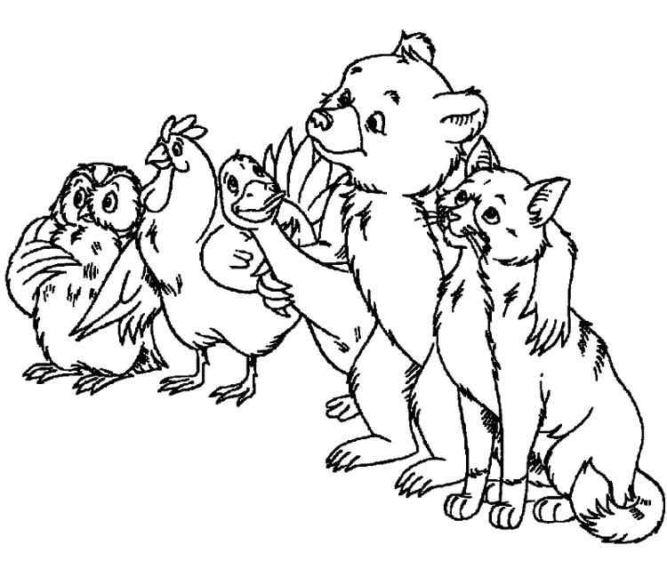 Раскраска Братец Медвежонок. Скачать Герои Диснея.  Распечатать Герои Диснея