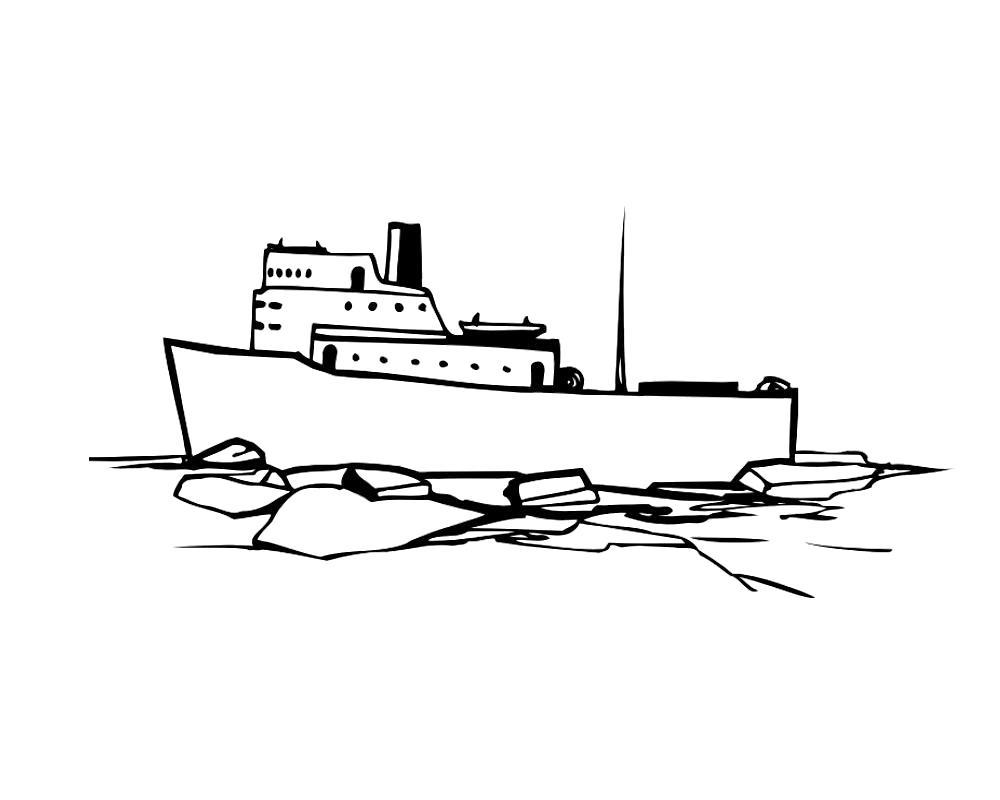 Раскраска Лайнер для круиза. Скачать корабли.  Распечатать корабли