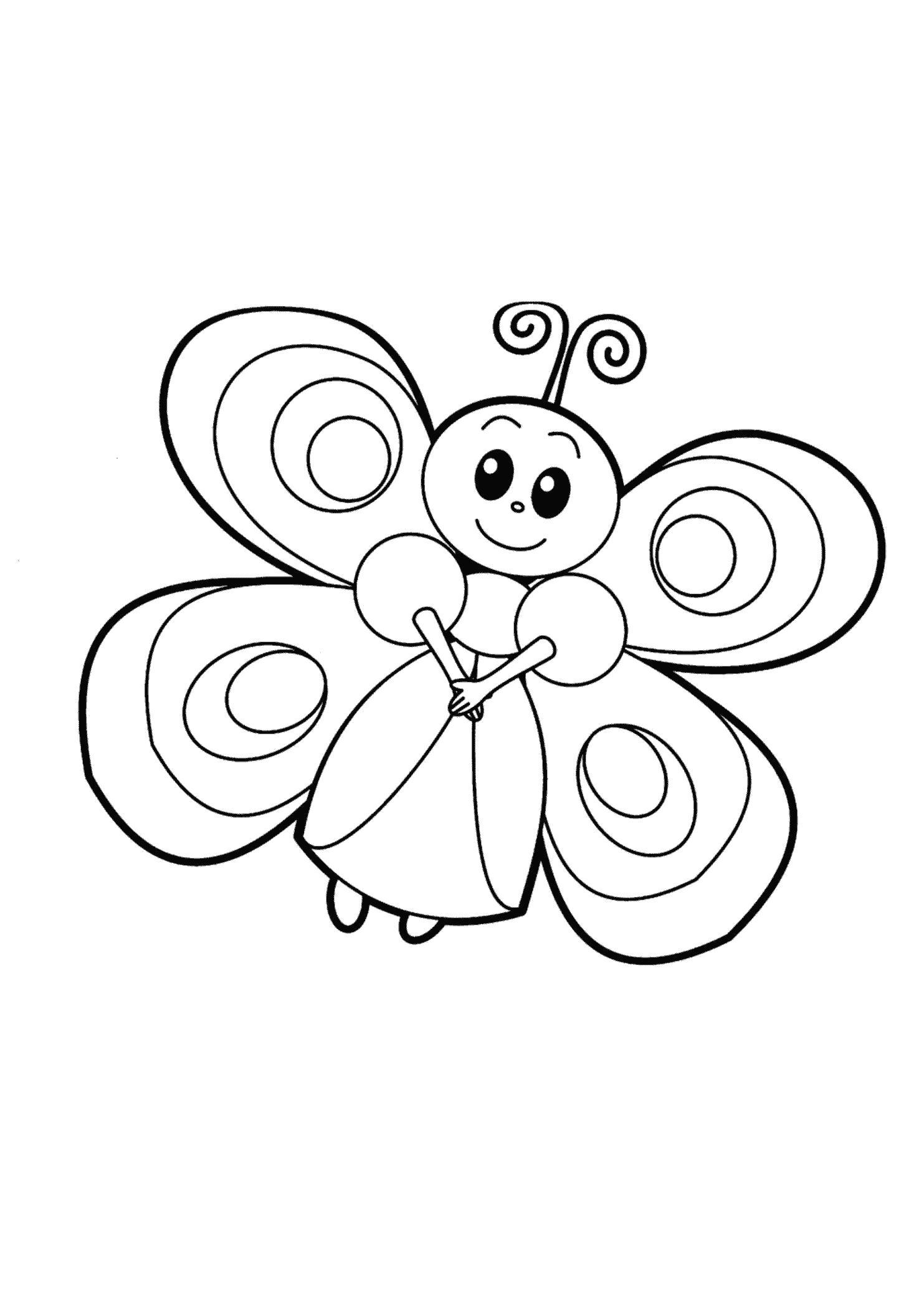 Раскраска Милашка. Скачать бабочка.  Распечатать бабочка