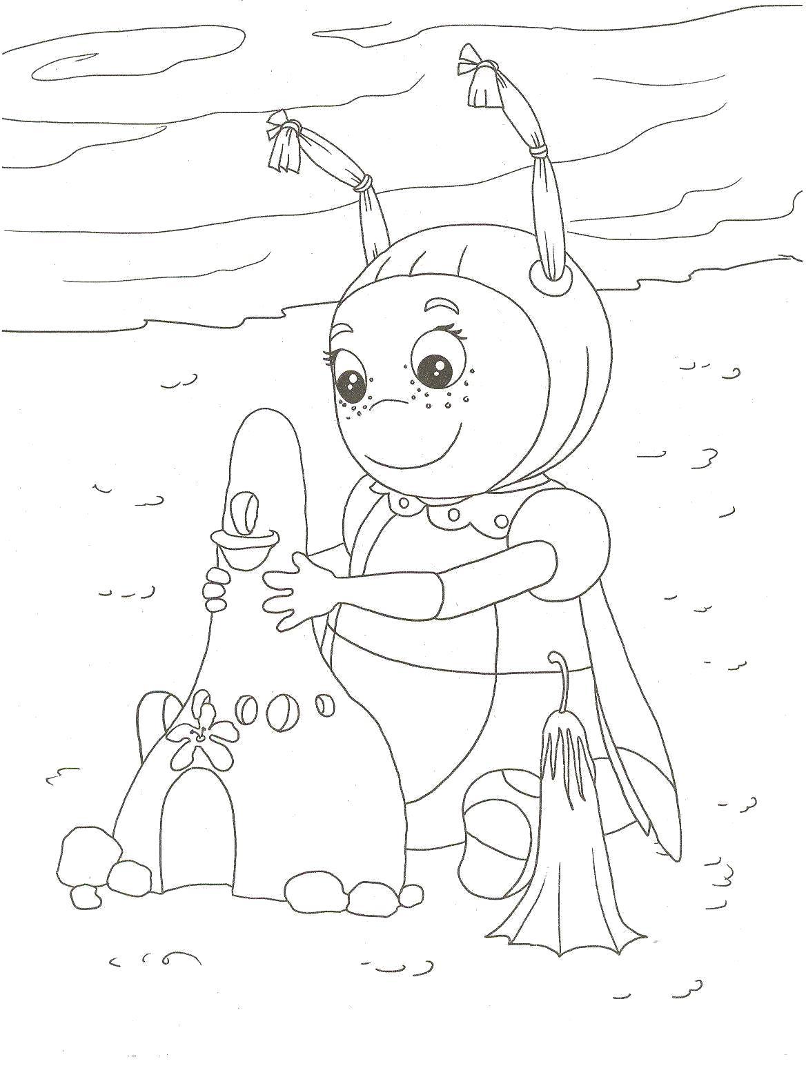 Раскраска Приключения Лунтика и его друзей. Скачать Мила.  Распечатать Лунтик