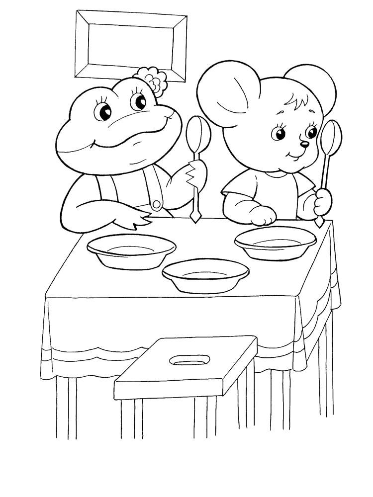 Раскраска Мышка норушка, лягушка квакушка. Скачать Теремок.  Распечатать Теремок