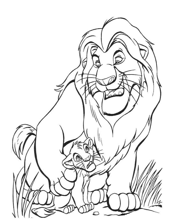 Раскраска Отец и сын. Скачать .  Распечатать